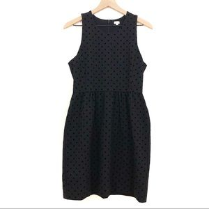 J. Crew | Black Polka Dot Sheath Dress